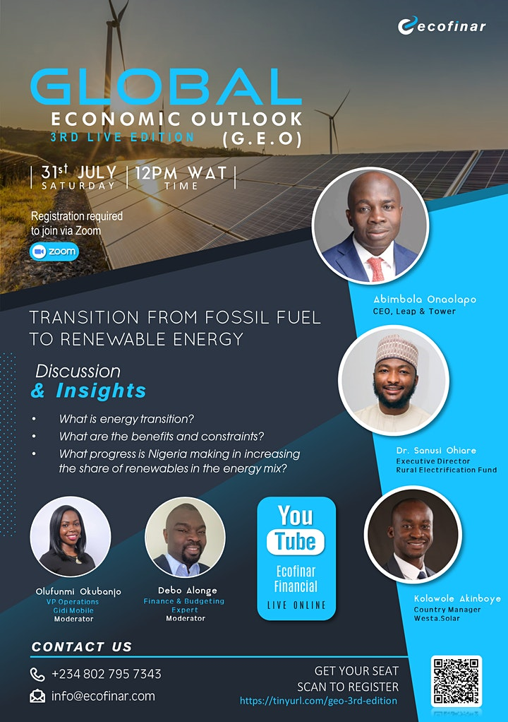 Global Economic Outlook (G.E.O) - 3rd Live Edition image