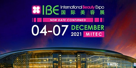 2021年 IBE国际美容展 tickets