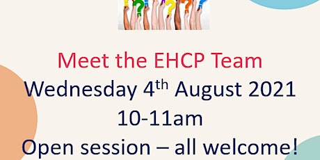 Parent/carers group session with EHCP Team tickets