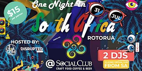 One Night in South Africa Rotorua @ Social Club Rotorua tickets