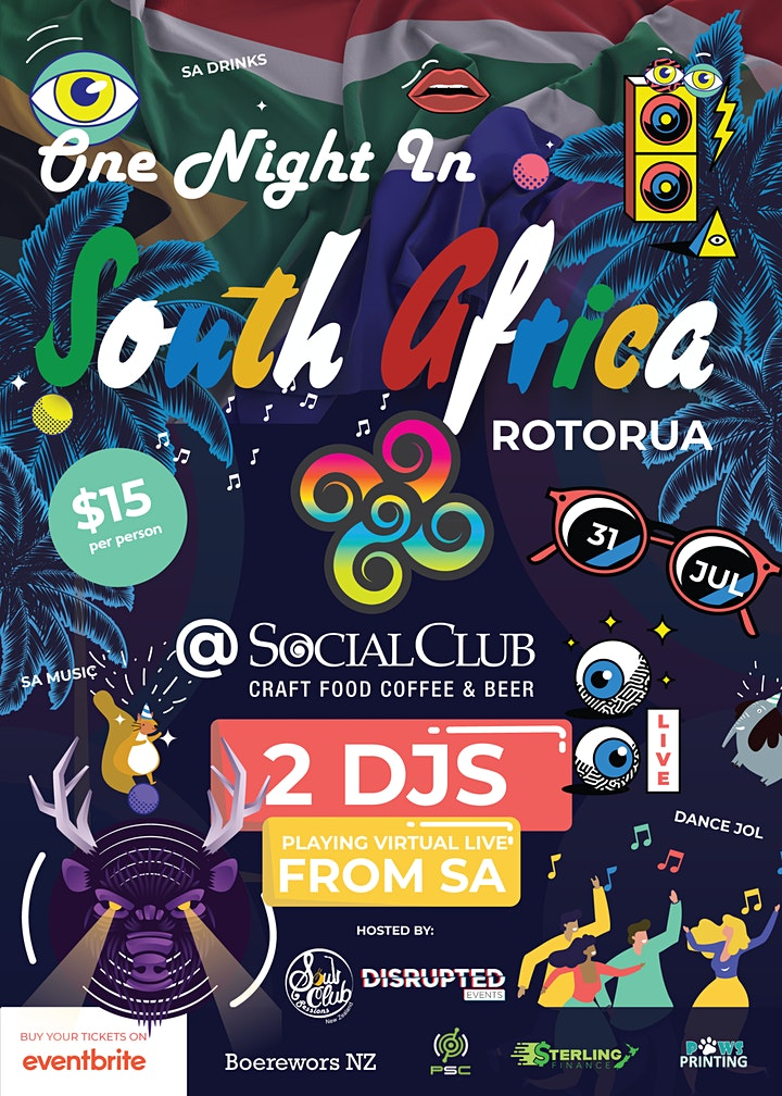 One Night in South Africa Rotorua @ Social Club Rotorua image
