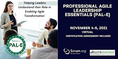 Certified Training   Professional Agile Leadership (PAL-E) tickets
