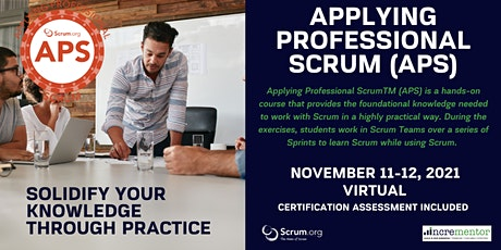Certified Scrum.org Training | Applying Professional Scrum (APS) biglietti