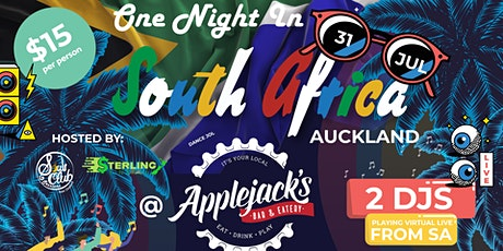 One night in South Africa Auckland @ Applejacks tickets