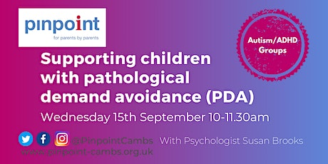 Supporting children with pathological demand avoidance (PDA) tickets