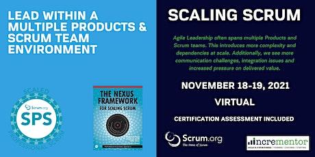 Scaled Professional Scrum (SPS) | A Scrum.org Certified Training biglietti