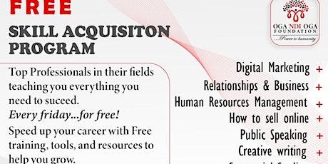 FREE Skill Acquisition Program tickets