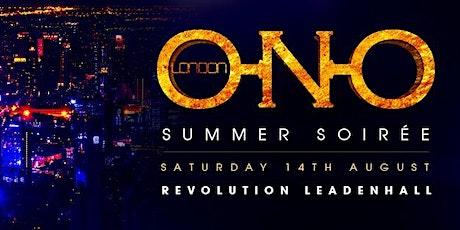 ONO LONDON - Summer Soirée tickets