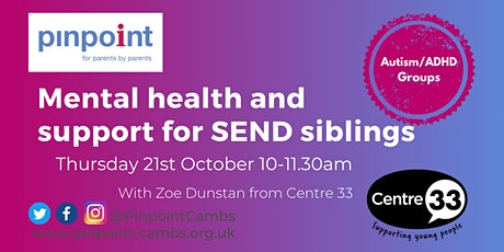 Centre 33 - Mental health and support for SEND siblings tickets