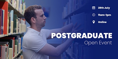 Postgraduate Open Event | Wednesday, 28th July 2021 tickets