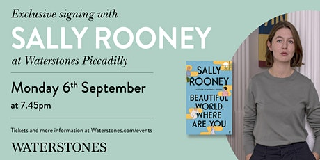 Meet Sally Rooney at Waterstones Piccadilly tickets