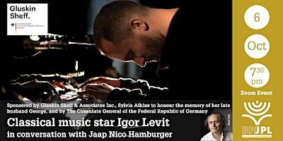 Classical music star Igor Levit in conversation with Jaap Nico Hamburger