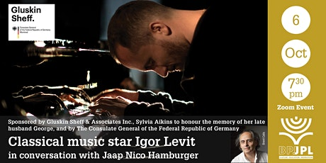 Classical music star Igor Levit in conversation with Jaap Nico Hamburger tickets