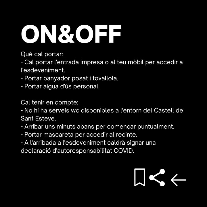 Imagen de ON&OFF - Experiència al Castell de Sant Esteve