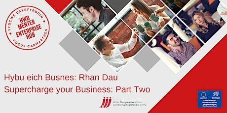 Hybu eich Busnes Rhan Dau: SEO   Supercharge your Business Part Two: SEO tickets
