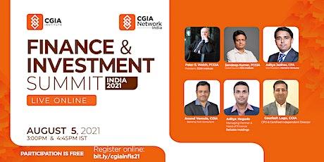 India Finance & Investment Summit 2021 tickets