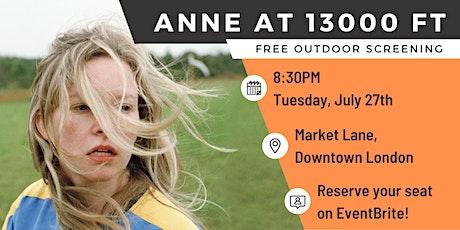 Anne at 13,000 ft | Film Club tickets