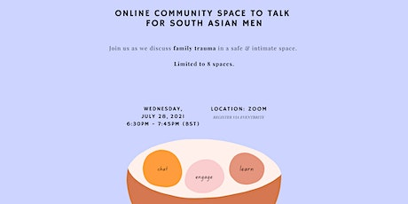 Monthly Virtual Space To Talk For South Asian Men - Family Trauma tickets