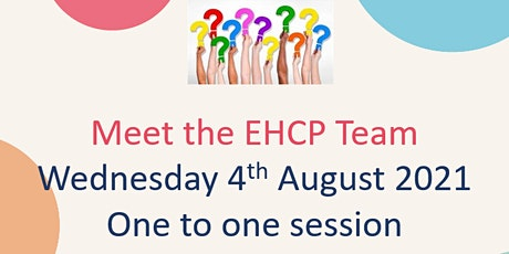 One to one session with EHCP Team tickets