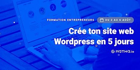 [FORMATION] Crée ton site en 5 jours sur Wordpress (août) billets