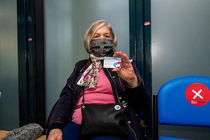 Pfizer vaccine clinic at Millwall Football Club image
