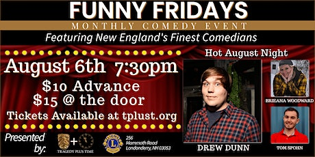 Funny Fridays at Londonderry Lions - August 2021 - Hot August Night! tickets