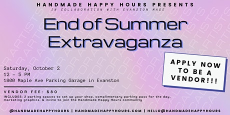 Handmade Happy Hours END OF SUMMER EXTRAVAGANZA! tickets