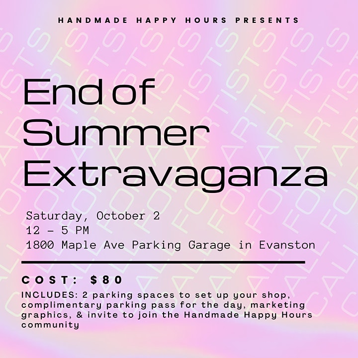 Handmade Happy Hours END OF SUMMER EXTRAVAGANZA! image