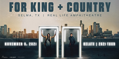for KING & COUNTRY - Relate | The 2021 Fall Tour tickets