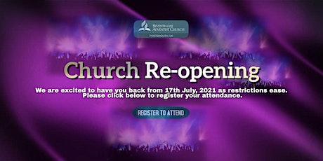 Portsmouth  SDA Church Worship Service Admission tickets