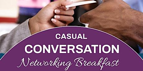 Casual Conversation Breakfast tickets