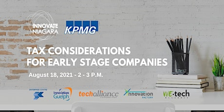 Tax Considerations for Early Stage Companies and their Founders tickets