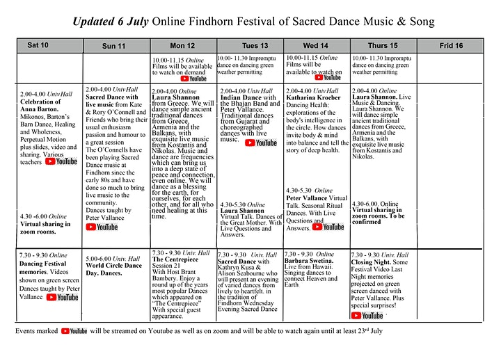 Findhorn Festival of Sacred Dance Music and Song image