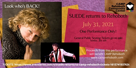 SUEDE Returns to CAMP Rehoboth! tickets