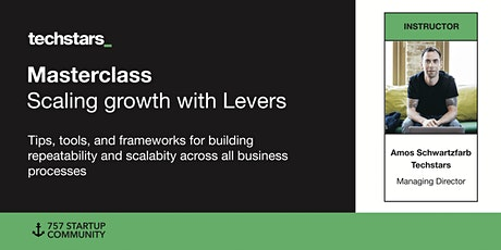 Techstars Masterclass: Scaling growth with Levers tickets
