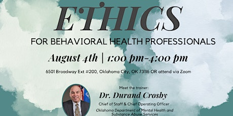 Ethics Training for Behavioral Health Professionals tickets