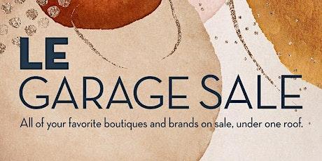 Le Garage Sale - Aug. 28-29, 2021 tickets