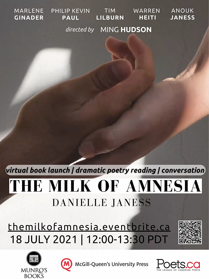 The Milk of Amnesia by Danielle Janess: Book Launch & Dramatic Reading image