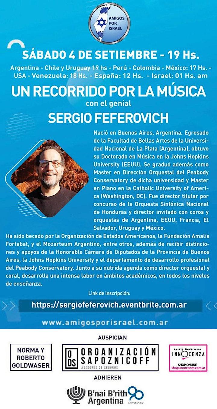 Imagen de UN RECORRIDO POR LA MÚSICA CON EL GENIAL SERGIO FEFEROVICH
