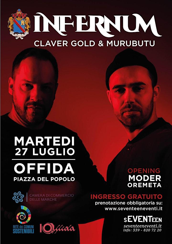 Immagine Claver Gold & Murubutu - Infernum tour