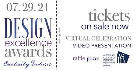 2021 DESIGN EXCELLENCE AWARDS   WINNERS PRESENTATION tickets