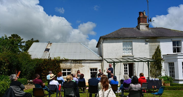 Theatre  Outdoors in a Beautiful Garden with Coolgreany Drama. image