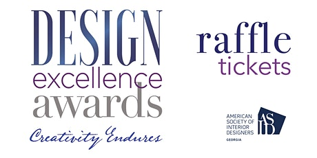 RAFFLE TICKETS   2021 DESIGN EXCELLENCE AWARDS tickets
