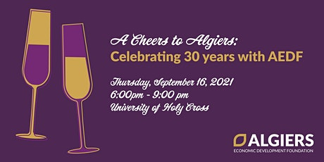 Cheers to Algiers: Celebrating AEDF's 30th Anniversary tickets