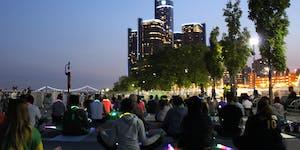 Moonlight Yoga on the Detroit Riverfront