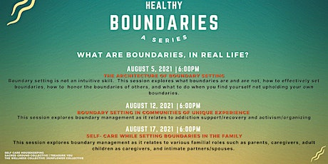 How to set Healthy Boundaries: A Series tickets