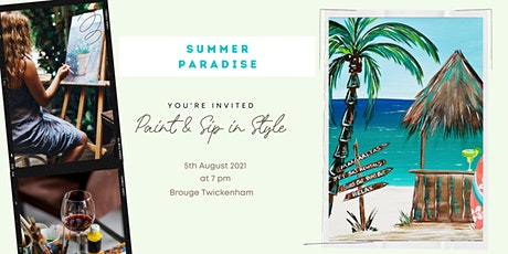 """Paint & Sip Party """"Summer paradise"""" tickets"""