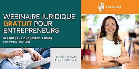 Pique-nique juridique N°2 : Webinaire juridique pour entrepreneur(e)s ! billets