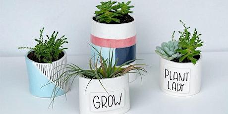 Intro to Ceramics - Clay Planter Pot Workshop tickets