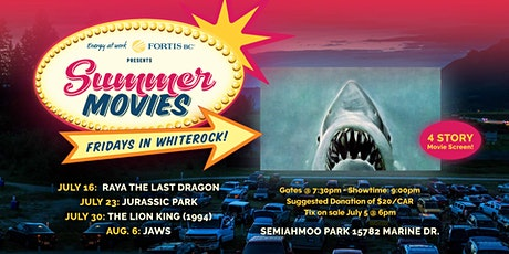 FortisBC Presents Summer Movies: Jaws (Aug 6) tickets